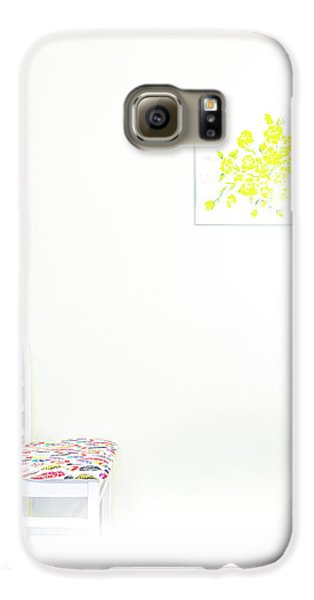 Empty Chair With Yellow Roses Galaxy S6 Case