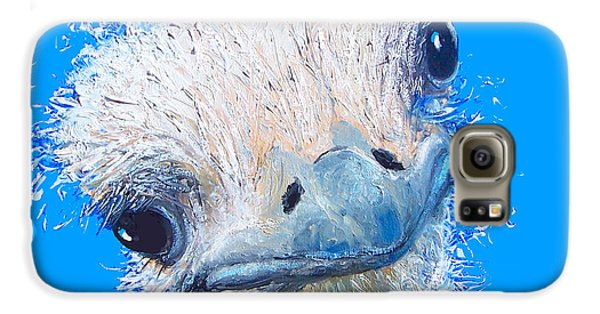 Emu Painting Galaxy S6 Case by Jan Matson