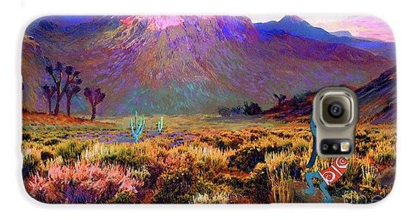Magician Galaxy S6 Case - Enchanted Kokopelli Dawn by Jane Small