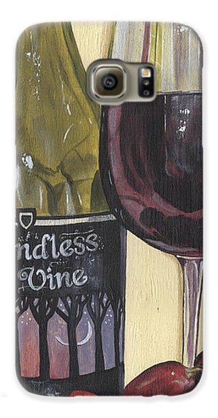 Strawberry Galaxy S6 Case - Endless Vine Panel by Debbie DeWitt
