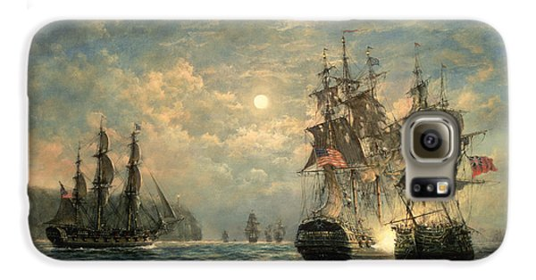Engagement Between The 'bonhomme Richard' And The ' Serapis' Off Flamborough Head Galaxy S6 Case