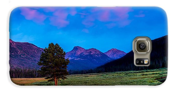Evening At Christmas Meadows Galaxy S6 Case