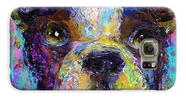 Expressive Boston Terrier Painting By Galaxy S6 Case