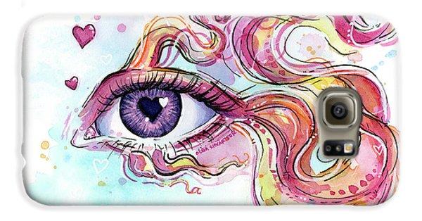 Eye Fish Surreal Betta Galaxy S6 Case by Olga Shvartsur