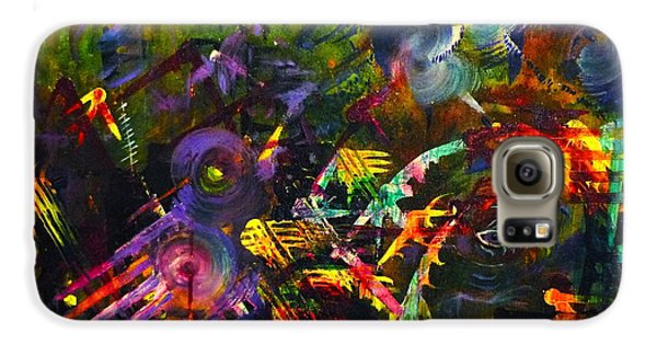 Galaxy S6 Case featuring the painting Eye In Chaos by Claire Bull
