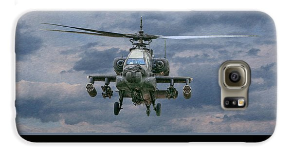 Helicopter Galaxy S6 Case - Face Of Death Ah-64 Apache Helicopter by Randy Steele