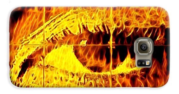 Galaxy S6 Case - Face The Fire by Gina Callaghan