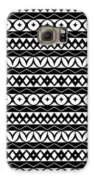 Fair Isle Black And White Galaxy S6 Case by Rachel Follett
