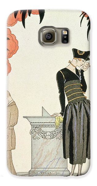 Boy George Galaxy S6 Case - Falbalas Et Fanfreluches by Georges Barbier