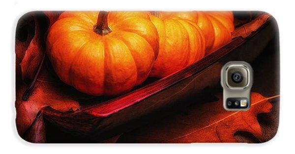 Fall Pumpkins Still Life Galaxy S6 Case by Tom Mc Nemar
