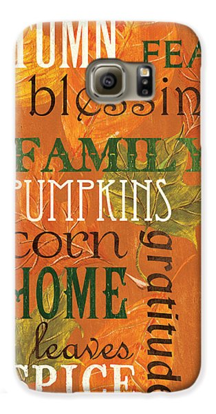 Fall Typography 1 Galaxy S6 Case by Debbie DeWitt