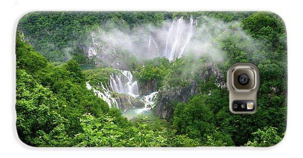 Falls Through The Fog - Plitvice Lakes National Park Croatia Galaxy S6 Case