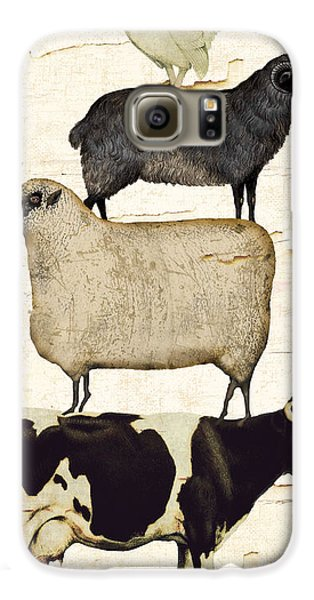 Cow Galaxy S6 Case - Farm Animals Pileup by Mindy Sommers