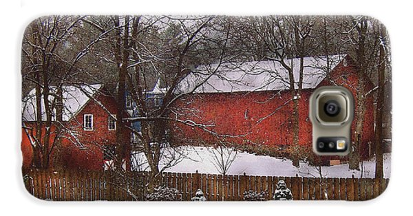 Farm - Barn - Winter In The Country  Galaxy S6 Case