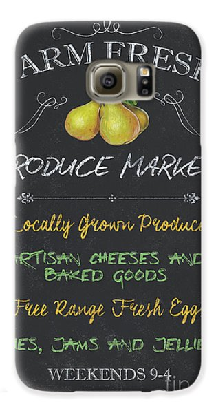 Chicken Galaxy S6 Case - Farm Fresh Produce by Debbie DeWitt