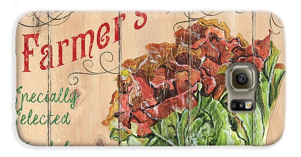 Farmer's Market Sign Galaxy S6 Case by Debbie DeWitt