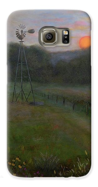 Galaxy S6 Case featuring the painting Farmland Peace by Nancy Lee Moran
