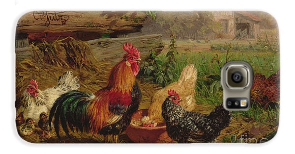 Farmyard Chickens Galaxy S6 Case