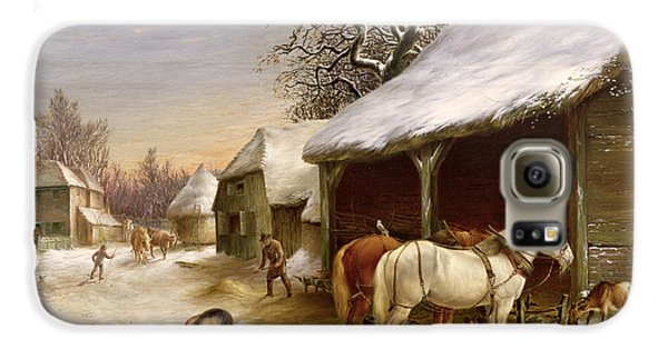 Farmyard In Winter  Galaxy S6 Case by Henry Woollett