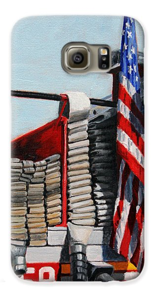 Harlem Galaxy S6 Case - Fdny Engine 59 American Flag by Paul Walsh