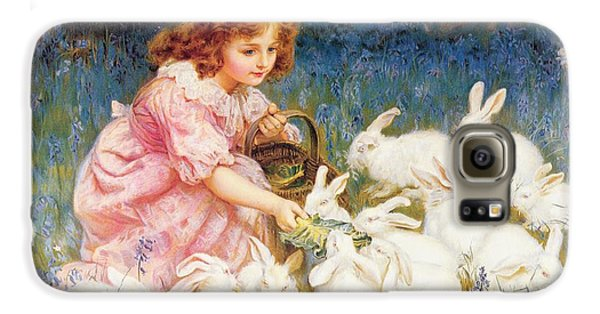 Feeding The Rabbits Galaxy S6 Case by Frederick Morgan