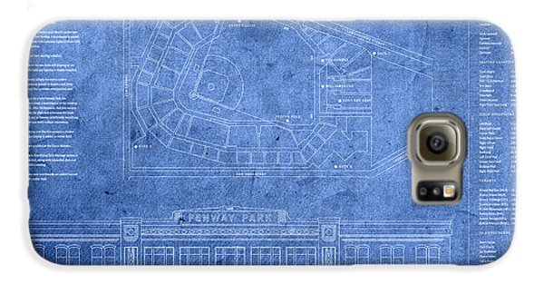 Fenway Park Blueprints Home Of Baseball Team Boston Red Sox On Worn Parchment Galaxy S6 Case