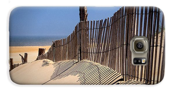 Fenwick Dune Fence And Shadows Galaxy S6 Case