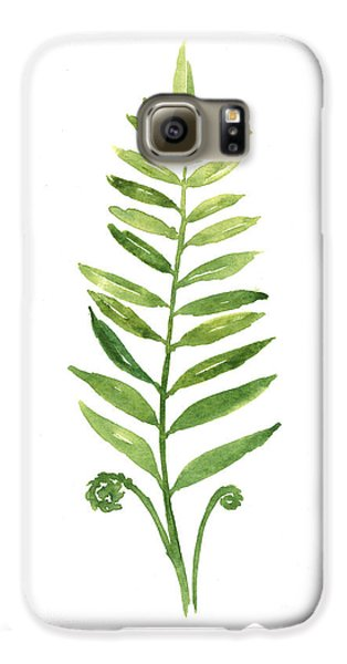 Fern Leaf Watercolor Painting Galaxy S6 Case