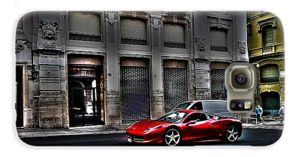 Ferrari In Rome Galaxy S6 Case by Effezetaphoto Fz