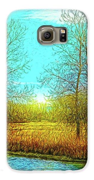 Field In Morning Light Galaxy S6 Case