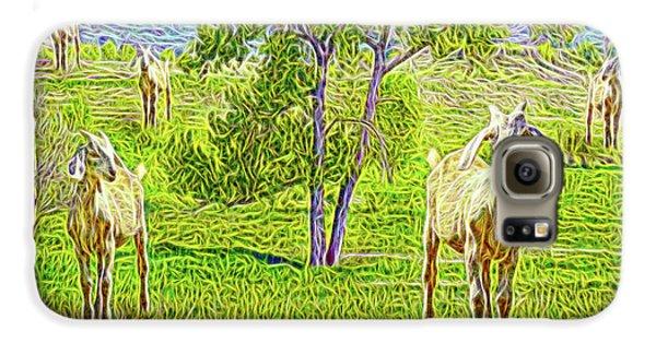 Field Of Baby Goat Dreams Galaxy S6 Case by Joel Bruce Wallach