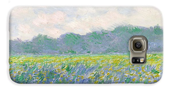 Field Of Yellow Irises At Giverny Galaxy S6 Case by Claude Monet