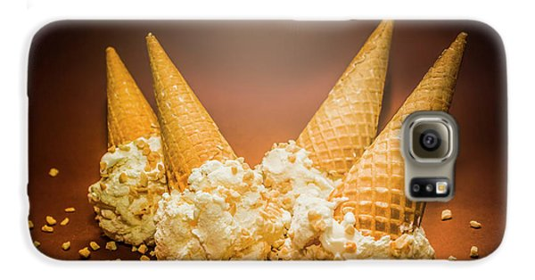 Fine Art Ice Cream Cone Spill Galaxy S6 Case by Jorgo Photography - Wall Art Gallery