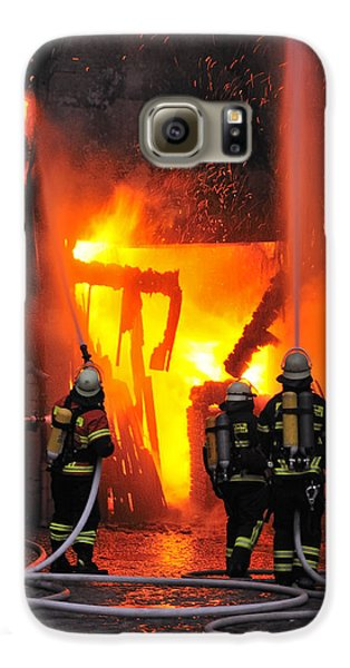 Fire - Burning House - Firefighters Galaxy S6 Case