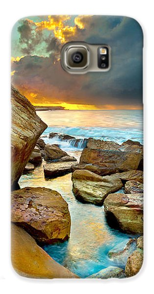 Landscapes Galaxy S6 Case - Fire In The Sky by Az Jackson