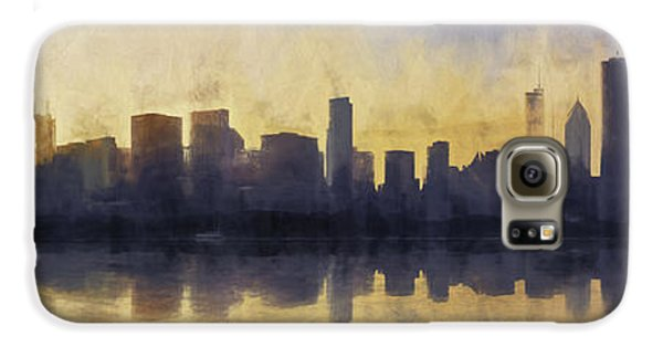 Fire In The Sky Chicago At Sunset Galaxy S6 Case by Scott Norris