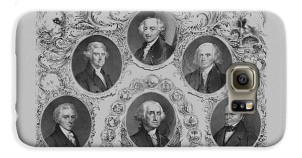 First Six U.s. Presidents Galaxy S6 Case by War Is Hell Store