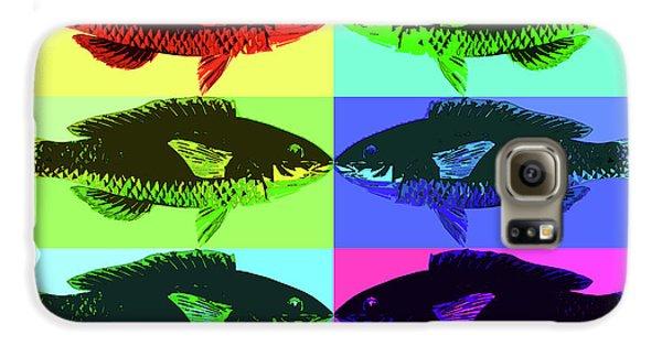 Galaxy S6 Case featuring the digital art Fish Dinner Pop Art by Nancy Merkle