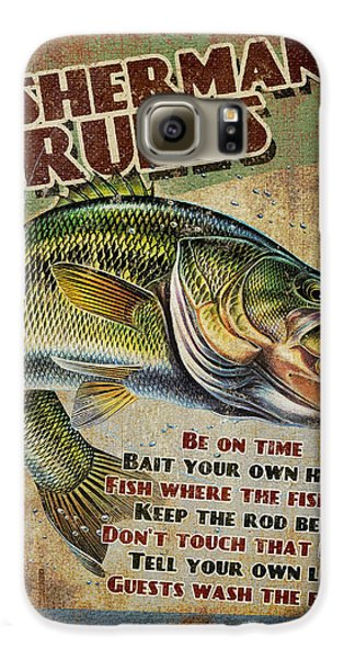 Largemouth Bass Galaxy S6 Case - Fisherman's Rules by JQ Licensing