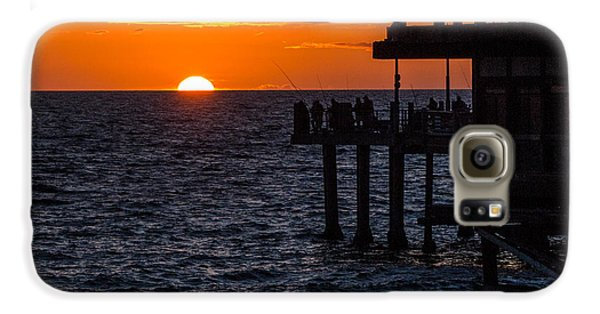 Fishing At Twilight Galaxy S6 Case