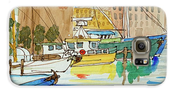 Fishing Boats In Hobart's Victoria Dock Galaxy S6 Case