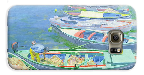 Boat Galaxy S6 Case - Fishing Boats by William Ireland