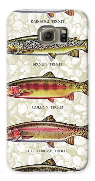 Fish Galaxy S6 Case - Five Trout Panel by JQ Licensing
