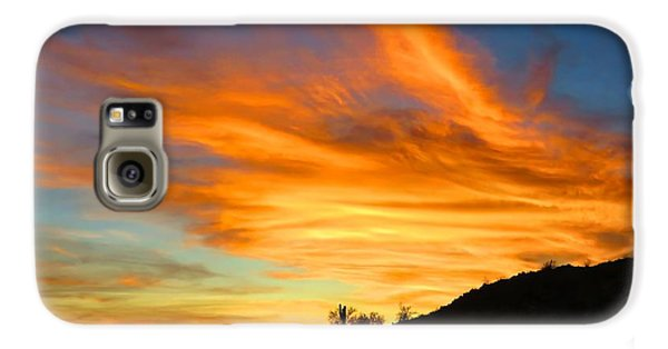 Flaming Hand Sunset Galaxy S6 Case