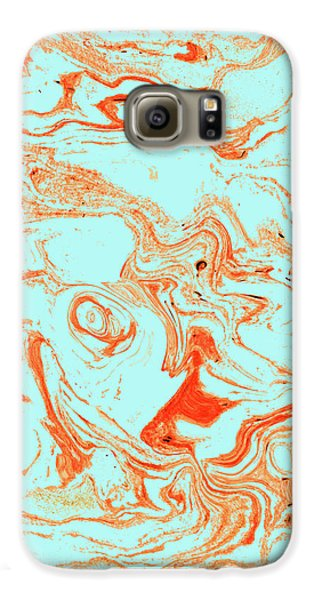 Flamingo And Sea Marble Galaxy S6 Case by Uma Gokhale