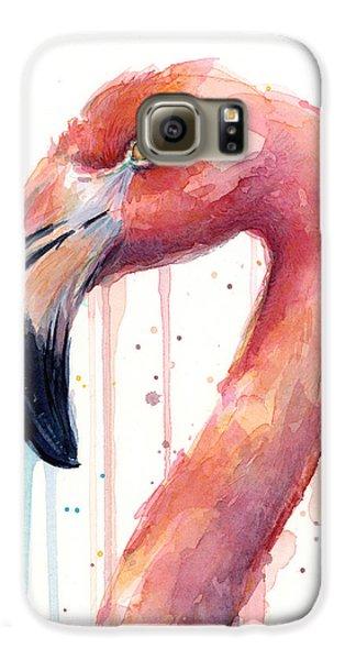 Flamingo Watercolor Illustration Galaxy S6 Case