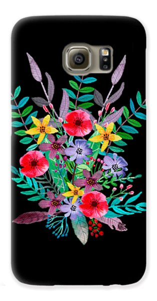 Flowers Galaxy S6 Case - Just Flora by Amanda Lakey
