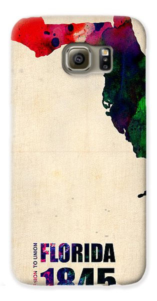 Florida Watercolor Map Galaxy S6 Case by Naxart Studio