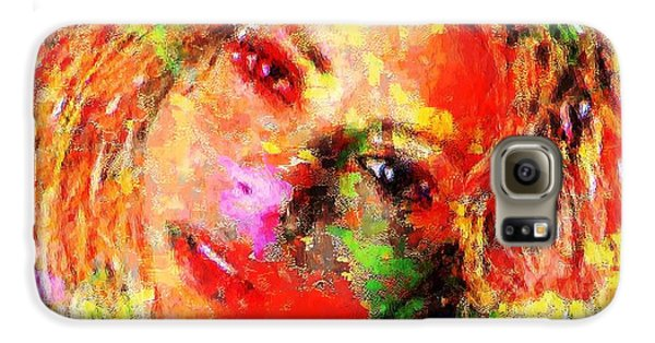 Flowery Shakira Galaxy S6 Case by Navo Art