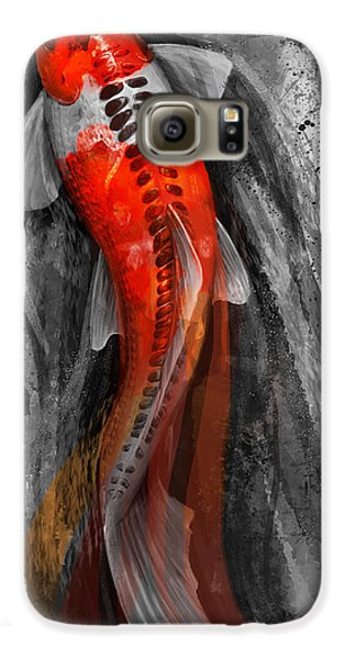 Flowing Koi Galaxy S6 Case by Steve Goad